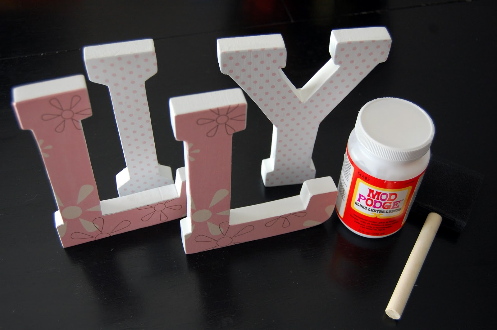 Diy Nursery Wooden Wall Letters