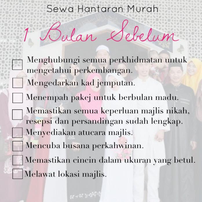 Checklist Setahun Sebelum Perkahwinan