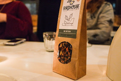 Birdhouse Tea bar and Kitchen Sheffield on Typewriter Teeth spiced apple tea from their winter range