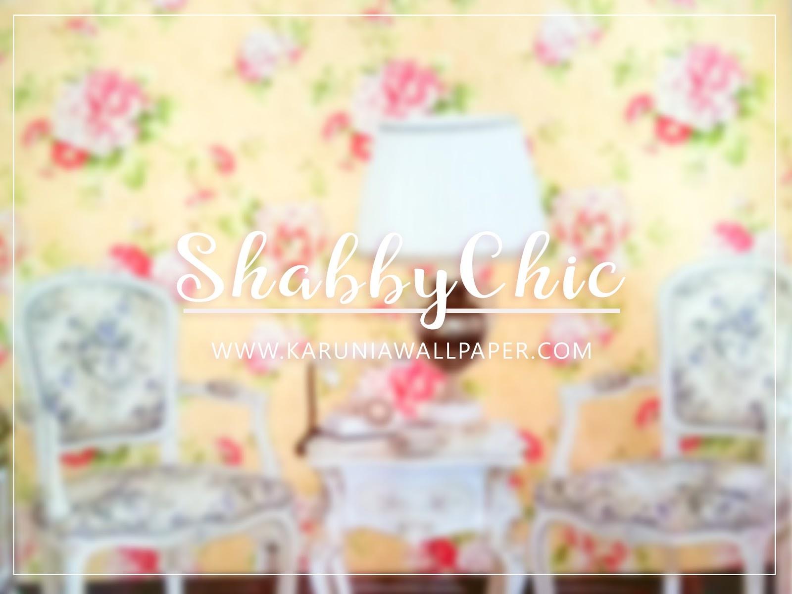 wallpaper dinding shabby chic