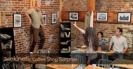 Telekinetic Coffee Shop Surprise | epische Carrie Werbung ( 1 Prank Video und der offizielle Trailer )