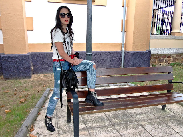 fashion, moda, look, outfit, walking, blog, casual, trendy, cool, rocker, bandana, street, style, casual,