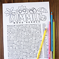 Summer Coloring Word Search