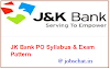 JKBank  ( BA) Banking Associate Syllabus Pdf 2018