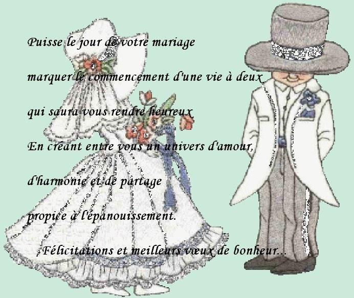 lettre de f licitation pour un mariage invitation mariage carte mariage texte mariage. Black Bedroom Furniture Sets. Home Design Ideas
