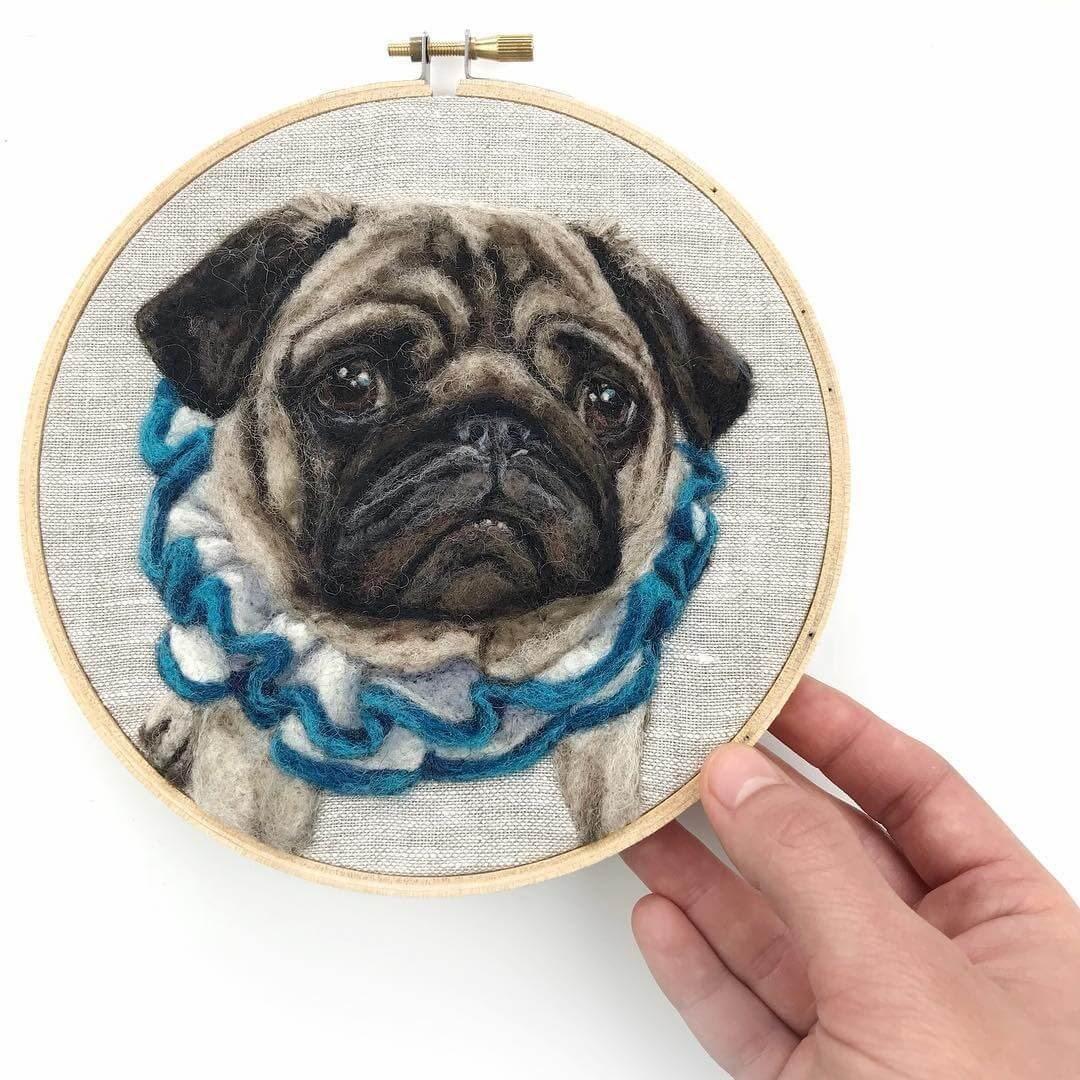 12-Pug-Dani-Ives-Needle-felting-Wool-and-Needle-Animal-Portraits-www-designstack-co