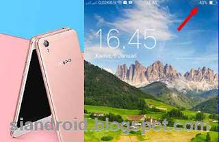 Cara tampilkan ikon Prosentase baterai Oppo Neo 9 A37 di bilah layar