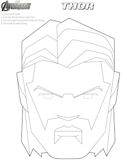 Avengers: Free Printable Coloring Masks. - Oh My Fiesta! for Geeks