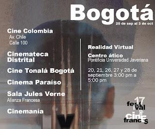 7 FESTIVAL DE CINE FRANCÉS Salas Bogotá
