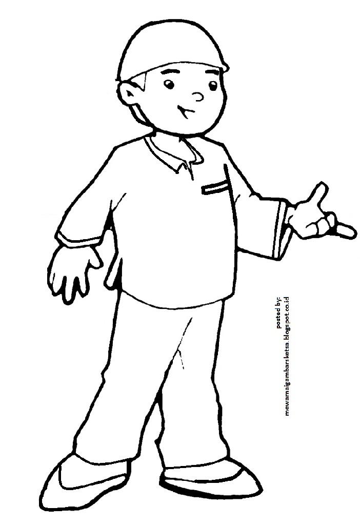 Mewarnai Gambar  Mewarnai Gambar  Kartun Anak Sekolah