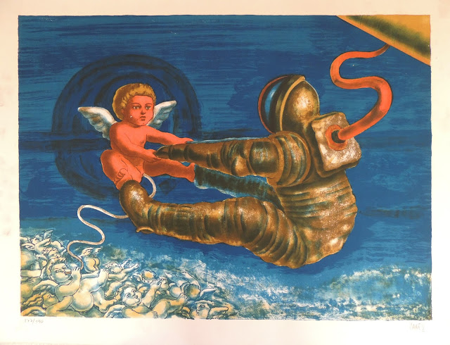 José Caes Solé litografía angeles