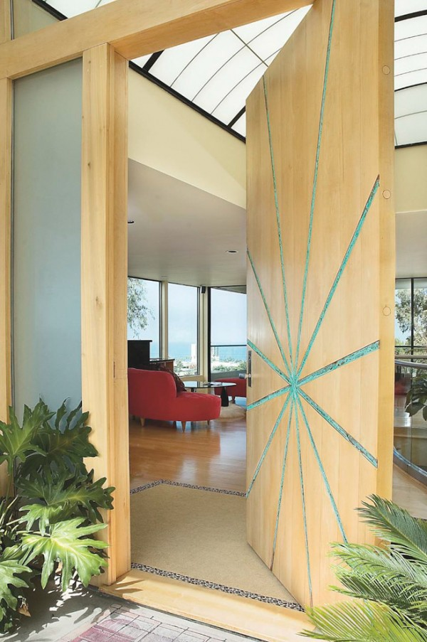 Beautiful door designs and ideas for home and office for Sunmica door design