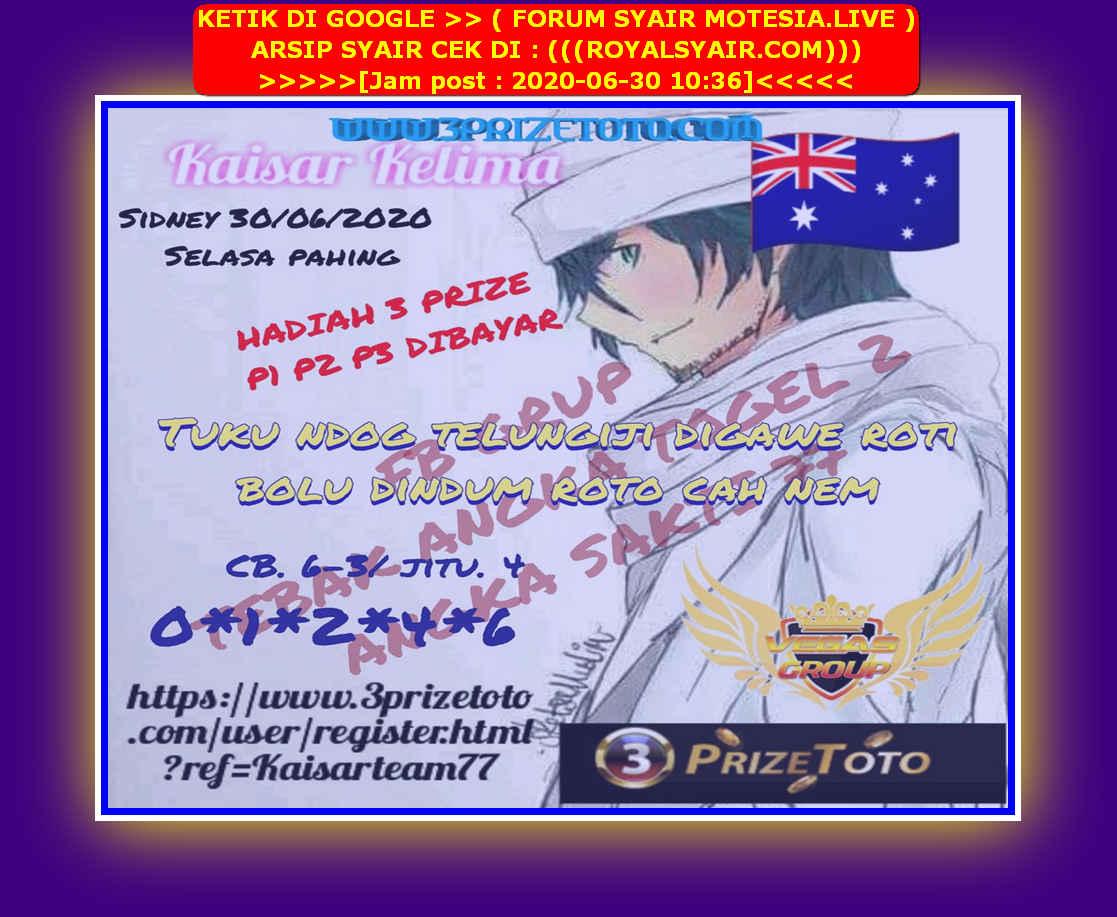 Kode syair Sydney Selasa 30 Juni 2020 35