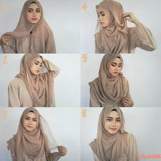 Kreasi Jilbab Segi Empat Terbaru