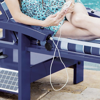 Solar Powered Entertainment Lounger