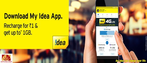 Download My Idea App and get 1GB Free 3G speed Mobile