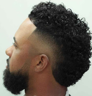 Thick Curly Hairs for Black men