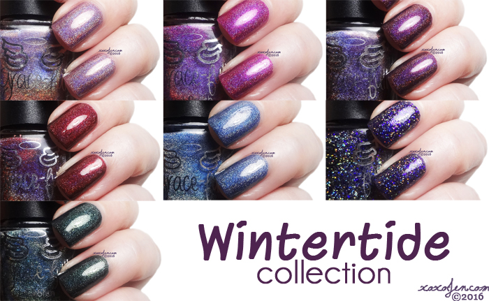 xoxoJen's swatch collage of Grace-full Wintertide Collection