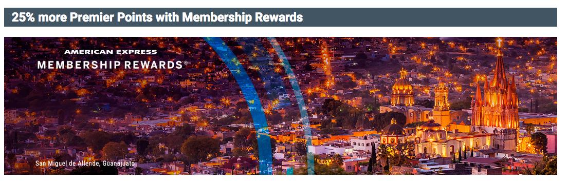 25 Bonus Aeromexico Club Premier Points When You Convert Amex Membership Rewards Us Only