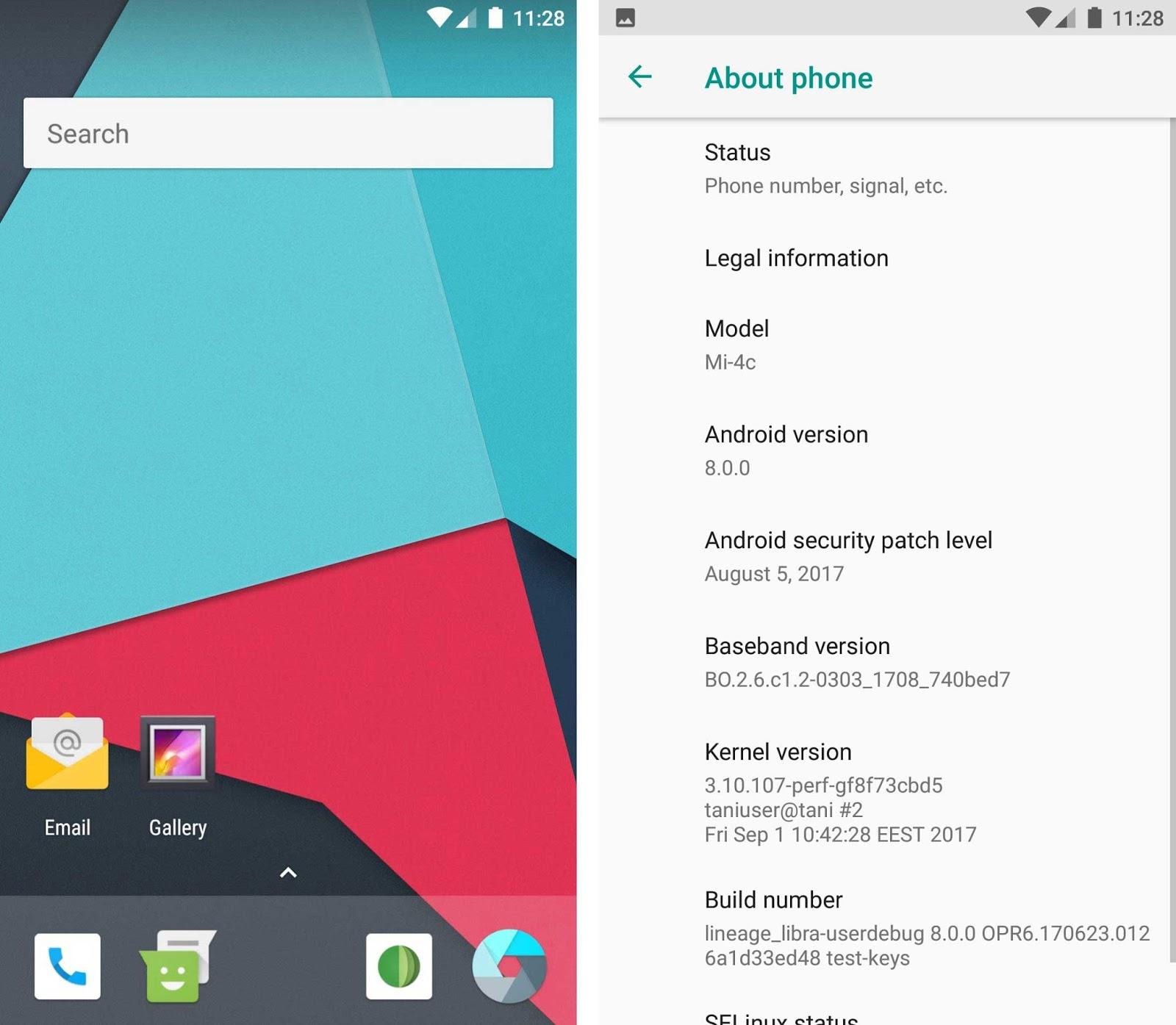 Update Android 8.0 Oreo on Xiaomi Mi 4c