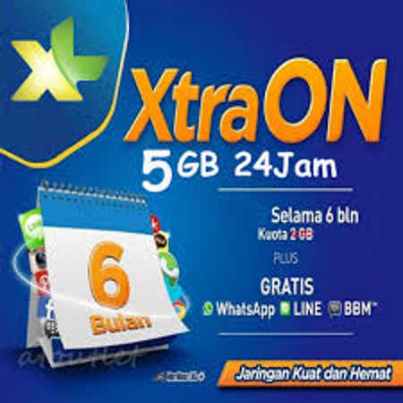 Paket Internet XL Xtra On 2 GB dan 5 GB Murah Meriah
