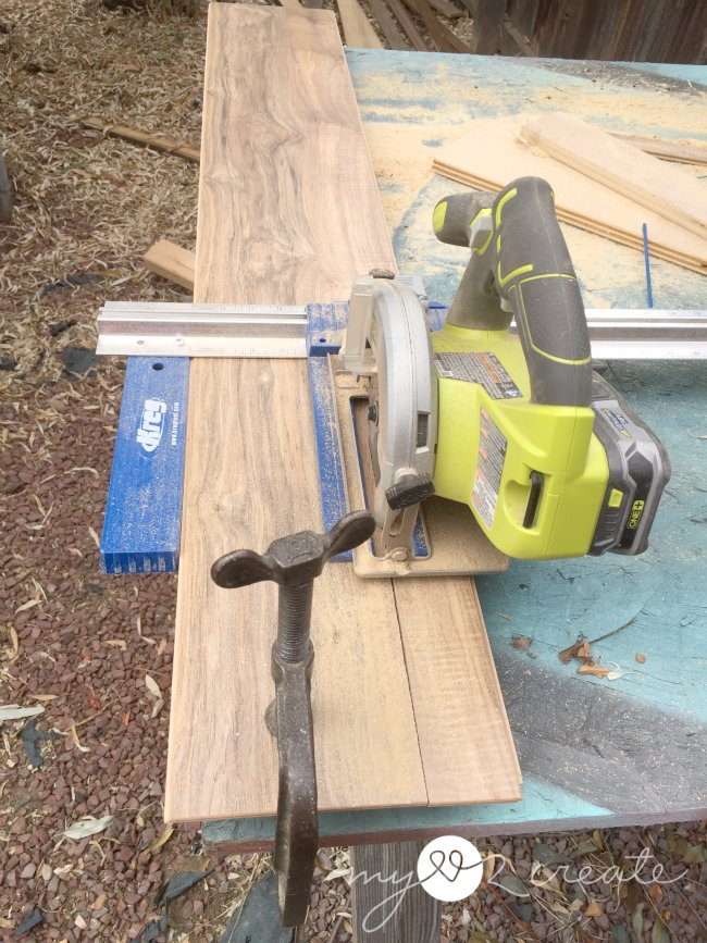 cutting laminate flooring with a keg rip cut