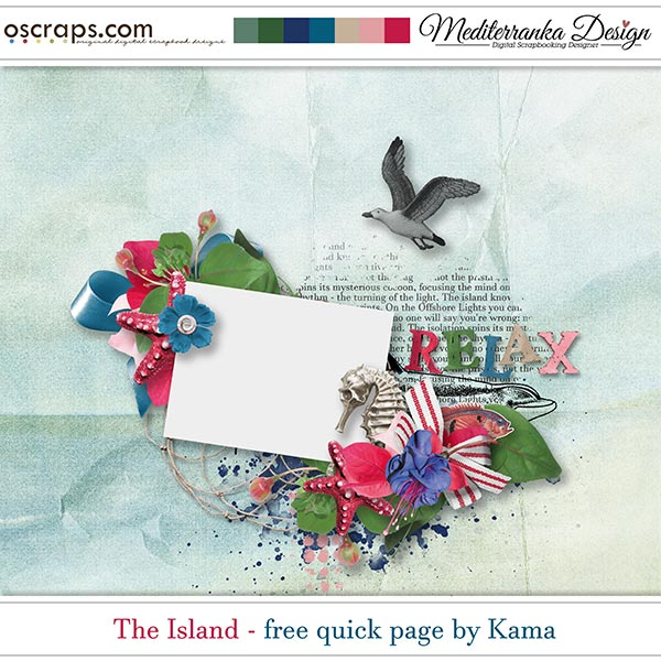 THE ISLAND + CHANCE TO WIN + FREE QUICK PAGE BY KAMA