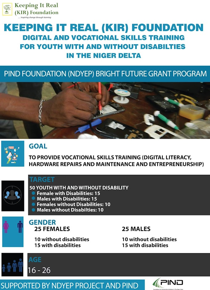 KIR FOUNDATION DIGITAL AND VOCATIONAL SKILLS TRAINING