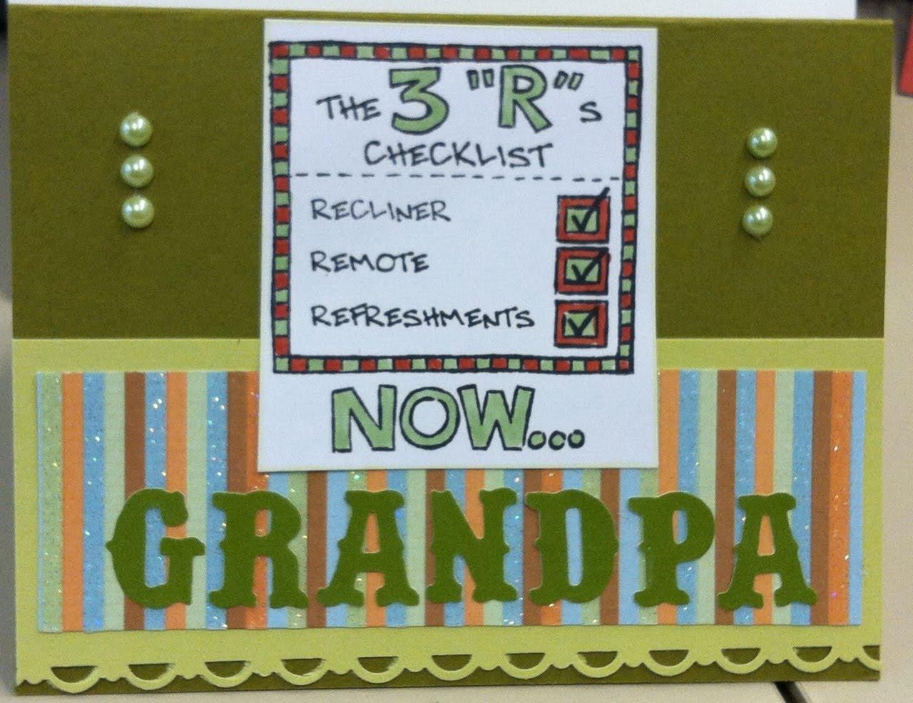 Michelle's MBellishments: Happy Father's Day Grandpa!