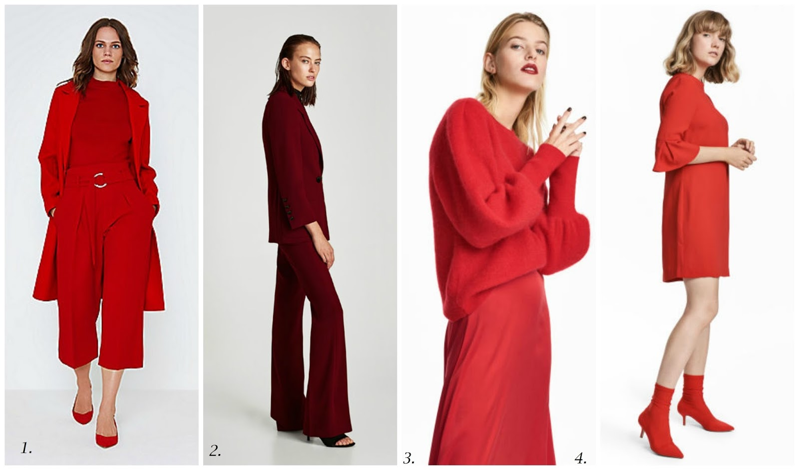 AW 17 Trend Focus - Red To Toe - How To Get The Look On The High Street - 2