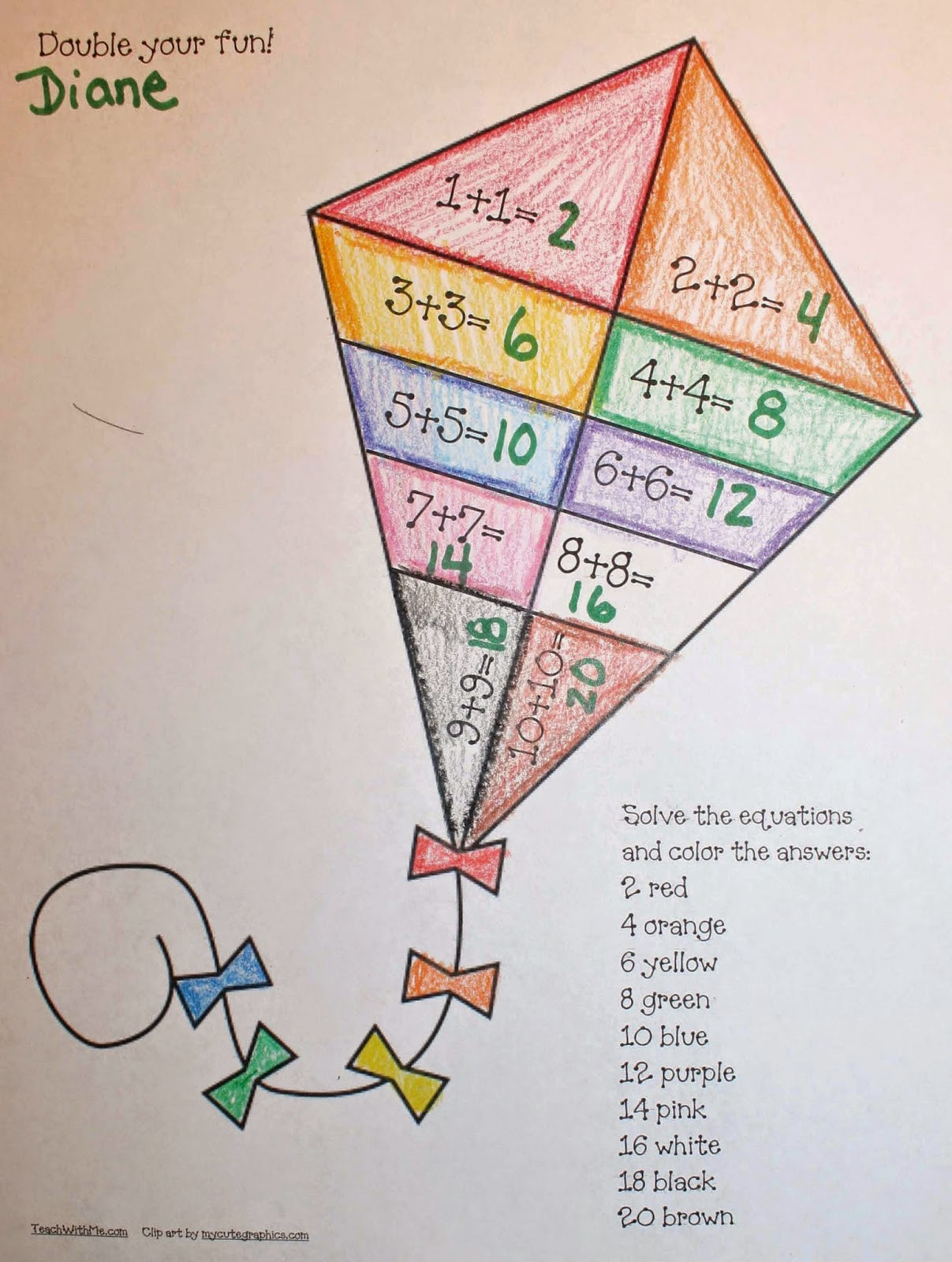 Classroom Freebies Can Do Common Core Kite Activities