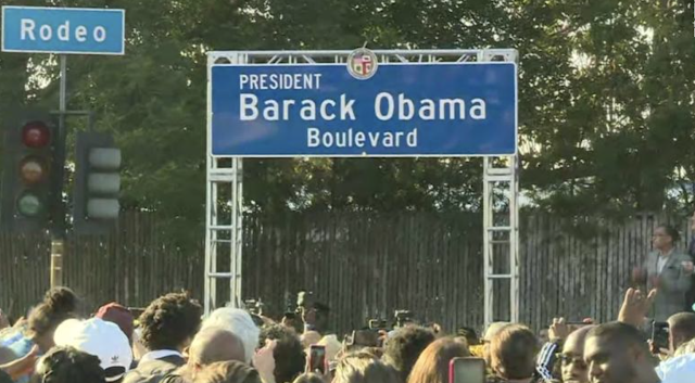 Obama Boulevard: Los Angeles renames a street to honor former president