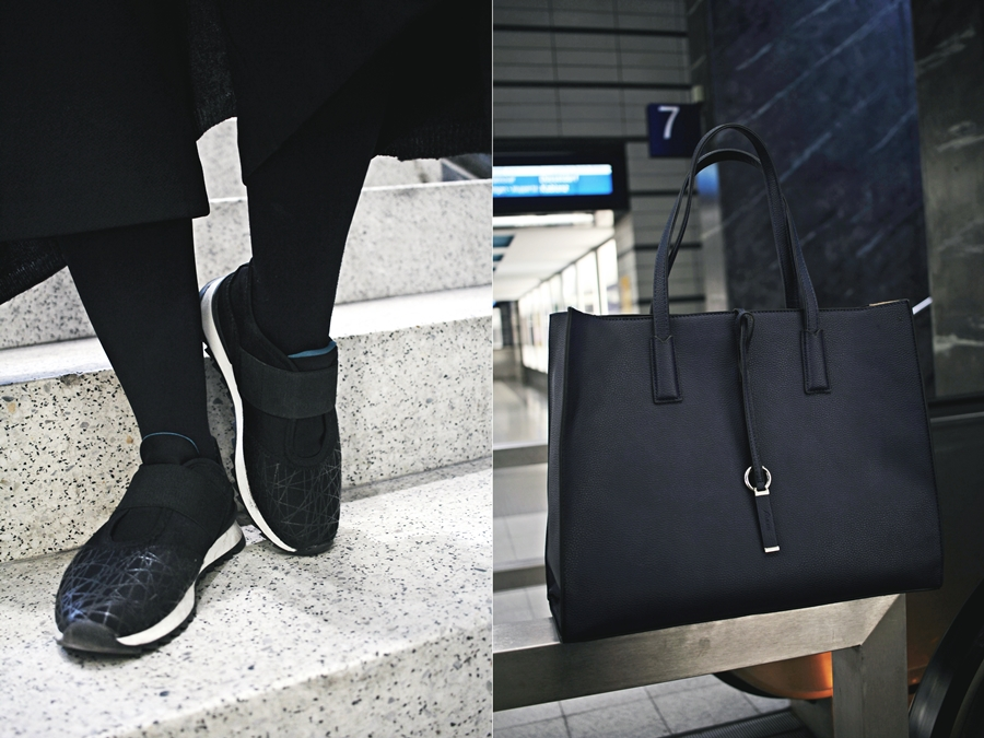 bag sneakers casual style