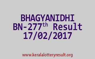 BHAGYANIDHI BN 277 Lottery Results 17-02-2017