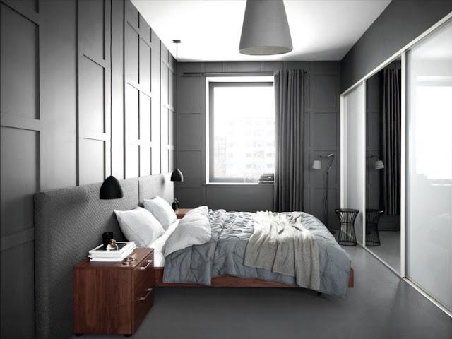 Bedroom Interior Design: Minimalist VS Light Effect Bedroom Interior Design: Minimalist VS Light Effect grey room