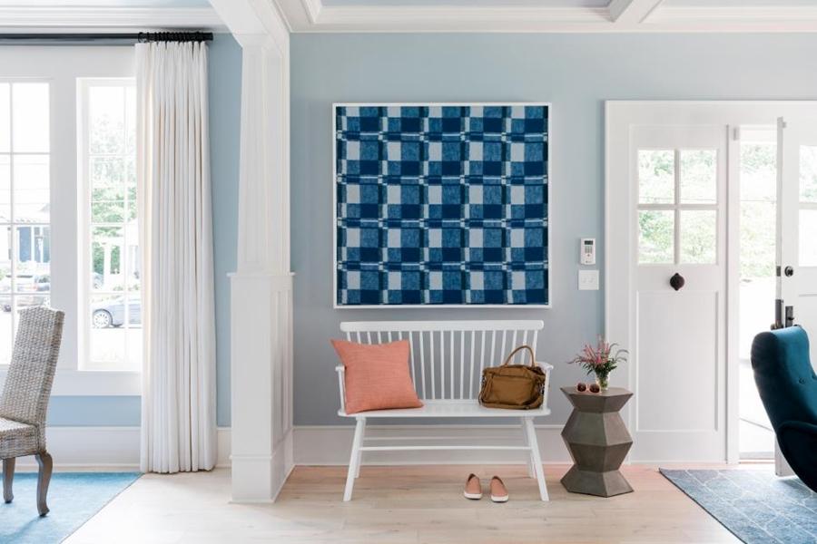 Niebieskie szaleństwo - metamorfoza całego domu, wystrój wnętrz, wnętrza, urządzanie mieszkania, dom, home decor, dekoracje, aranżacje, niebieski, blue, before and after, salon, living room