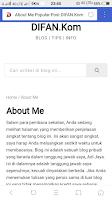 Cara Membuat Laman Tentang Saya / About Me