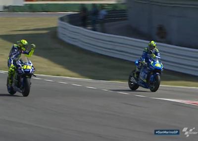 Heboh! Insiden Rossi Marahi Aleix di FP2 GP Misano