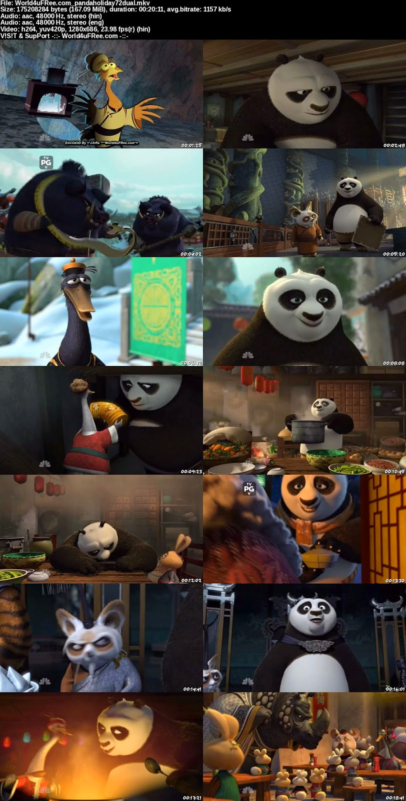 Watch Kung Fu Panda Holiday Special 2010 Online In Hindi at moviesmella.com