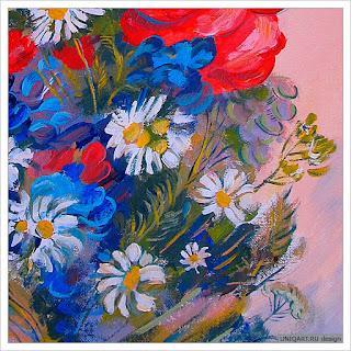 современные картины цветами, купить картину цветы, маки