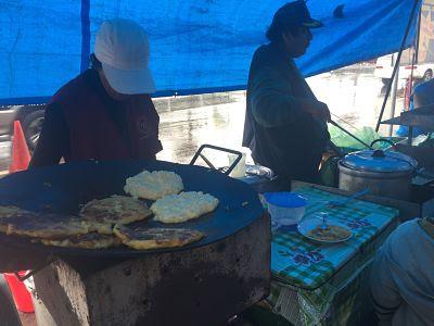 Santa Cruz de la Sierra. Bolivia. Puesto de arepas.
