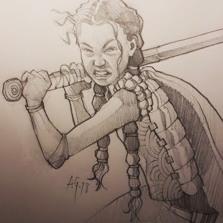 Lian Webcomic, Character Pencil Sketch