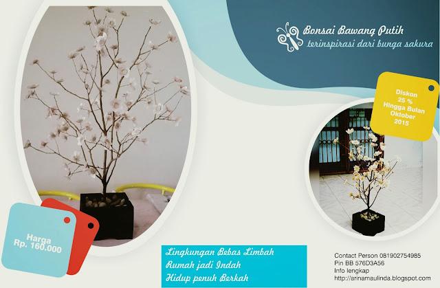 Kerajinan Bonsai dari Limbah Bawang Putih