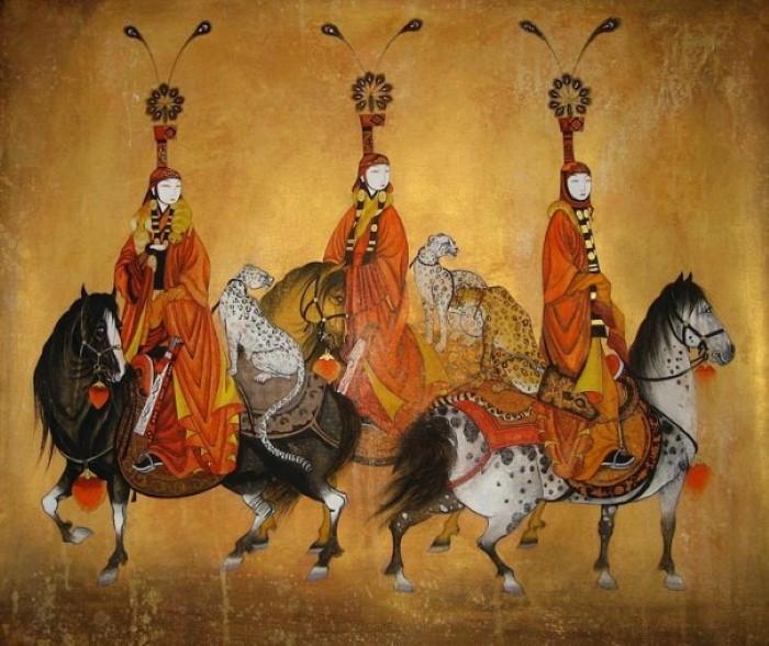 Монгольский художник. Заясайхан Самбуу 8
