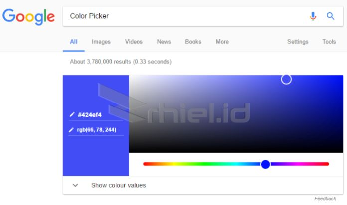 OmniBox sebagai Color Picker
