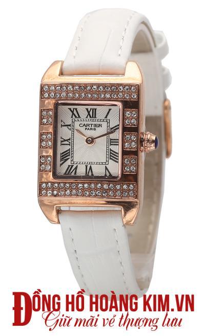 đồng hồ nữ dây da trắng giá rẻ