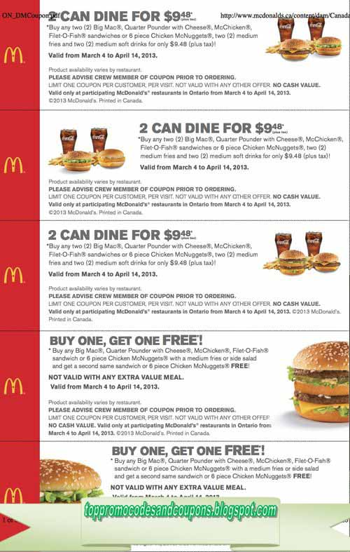 Free Promo Codes And Coupons 2019 Mcdonalds Coupons