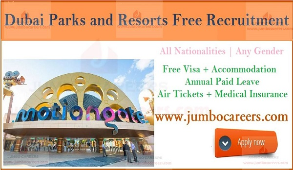 MOTIONGATE Dubai Hiring Staff, Available resort jobs in Dubai,