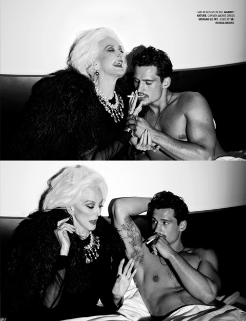 carmen dell'orefice and sam webb geil magazine october 2010 photograph by brian jankic