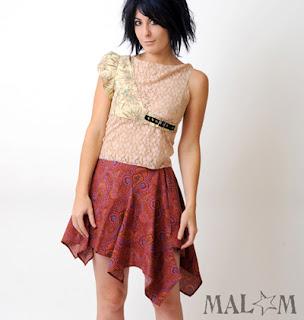 jupe créateur asymétrique rose